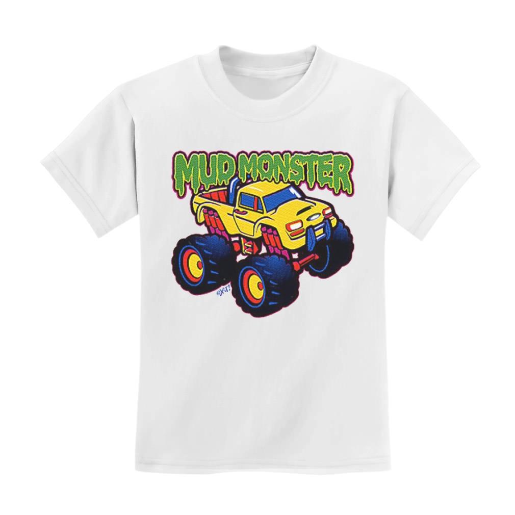 Mud Monster Toddler T-Shirt Truck Boys Birthday Gift Idea