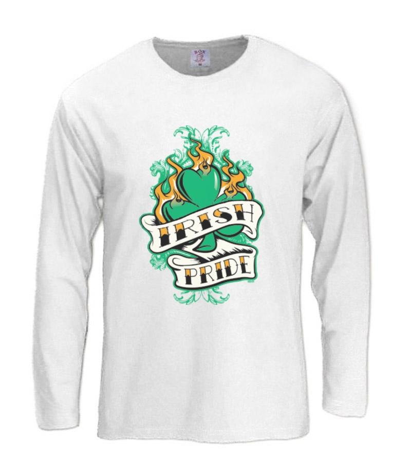 Irish Drinking Toast St Patrick S Day Shirt By: Irish Pride Long Sleeve T-Shirt For St.Patricks Day Patty