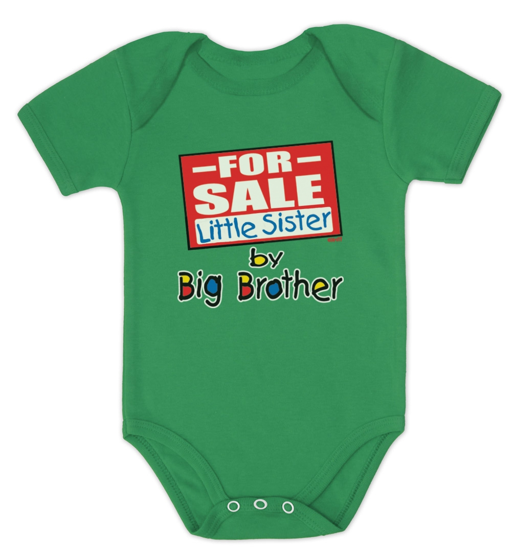 Baby Gifts For Big Brother : For sale little sister by big brother baby onesie bodysuit