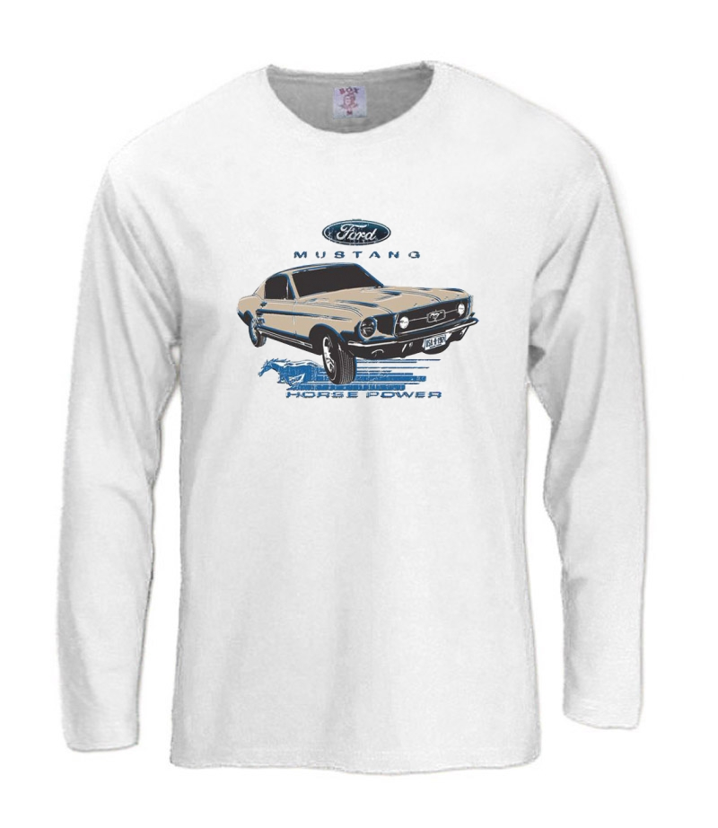 Ford Mustang Long Sleeve T Shirt 1967 Classic Car Horse