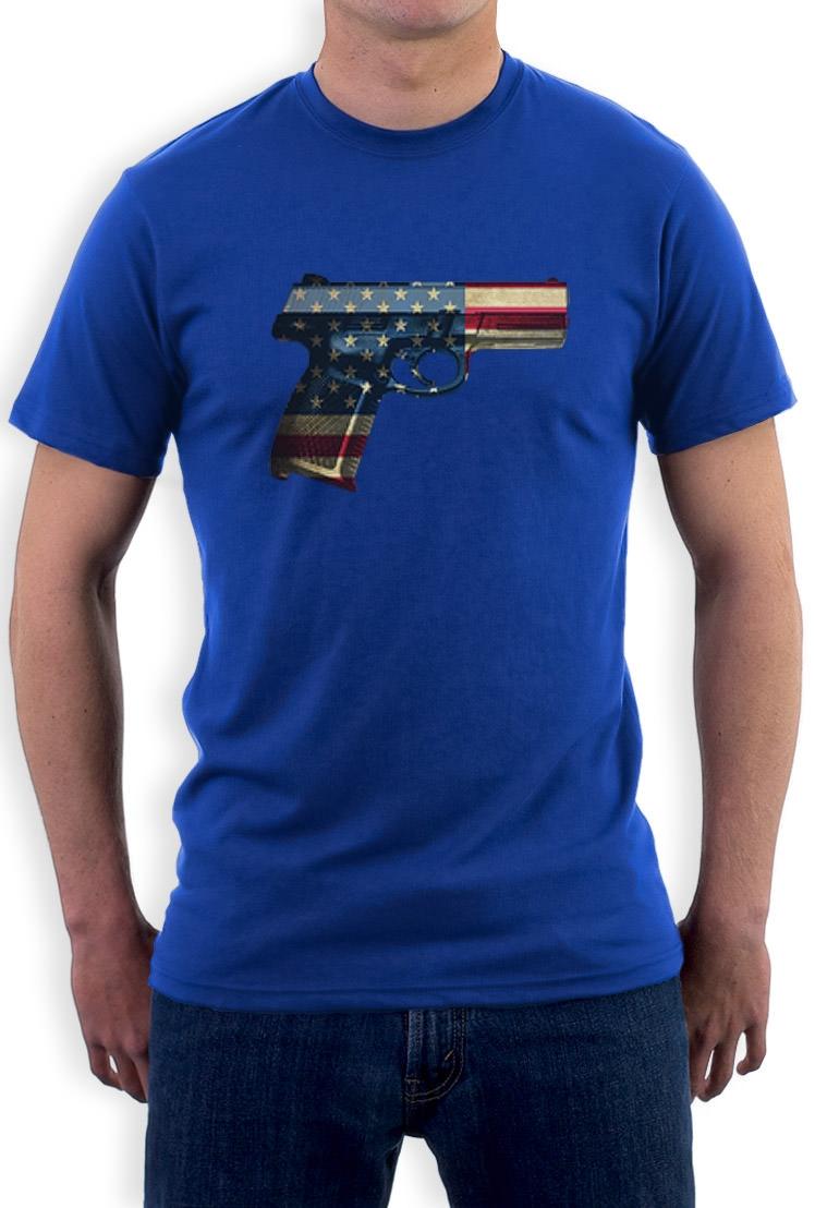 Usa Pistol American Gun Flag 4th Of July Men 39 S T Shirt