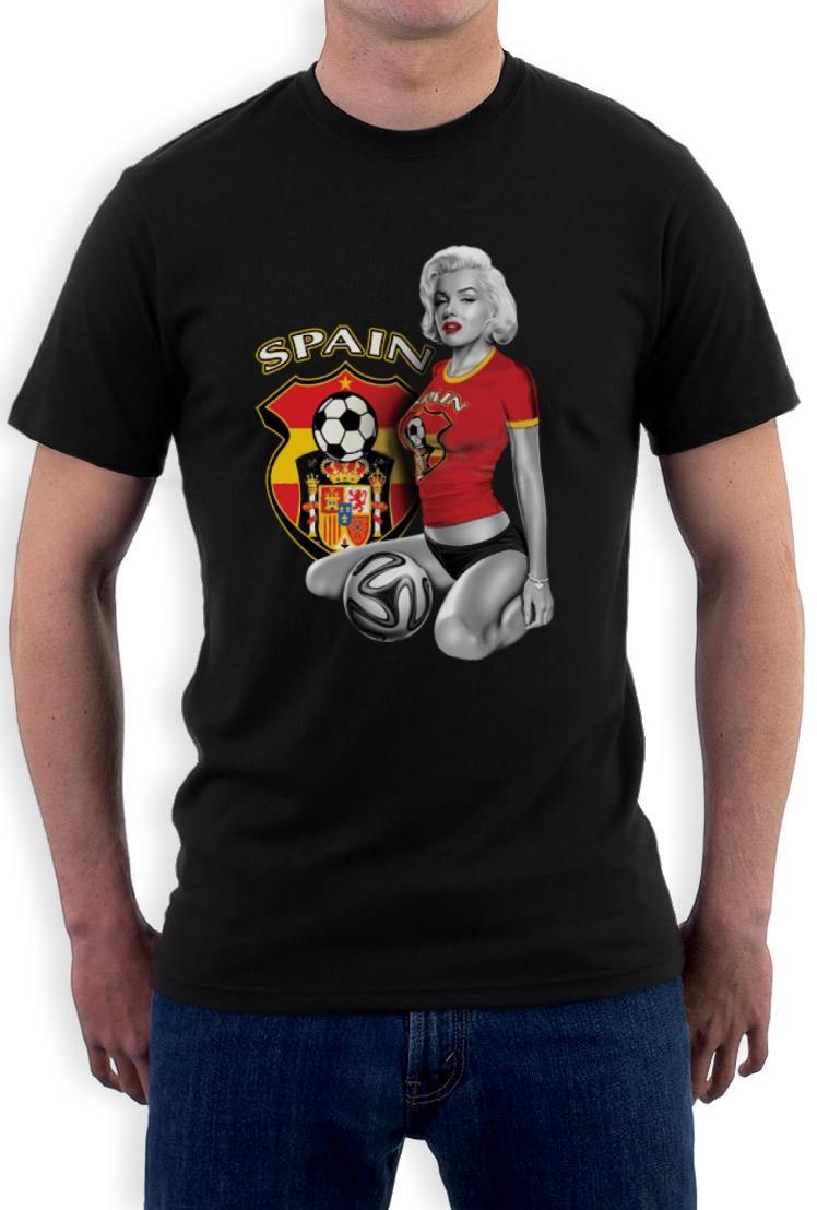 Marilyn monroe esapna spain soccer t shirt football for Spain polo shirt 2014