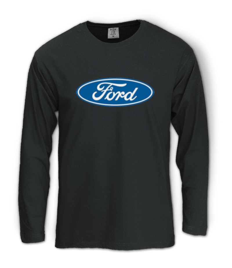 ford long sleeve t shirt car maker licensed sign logo ebay. Black Bedroom Furniture Sets. Home Design Ideas