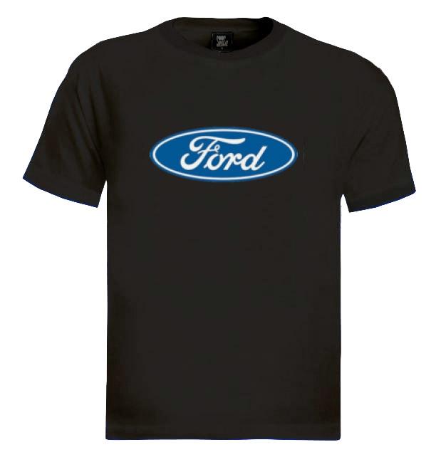 Ford t shirt car maker licensed sign logo for Logo t shirt maker