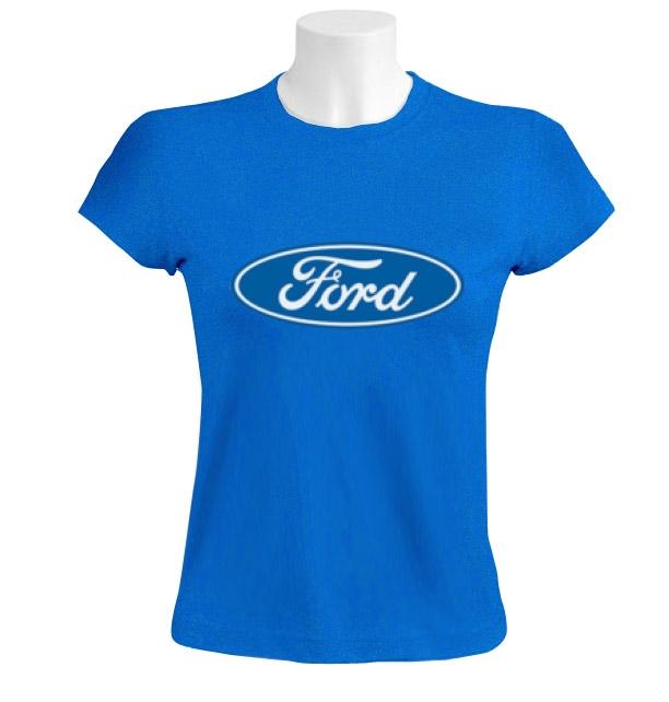 Ford women t shirt car maker licensed sign logo ebay for Logo t shirt maker