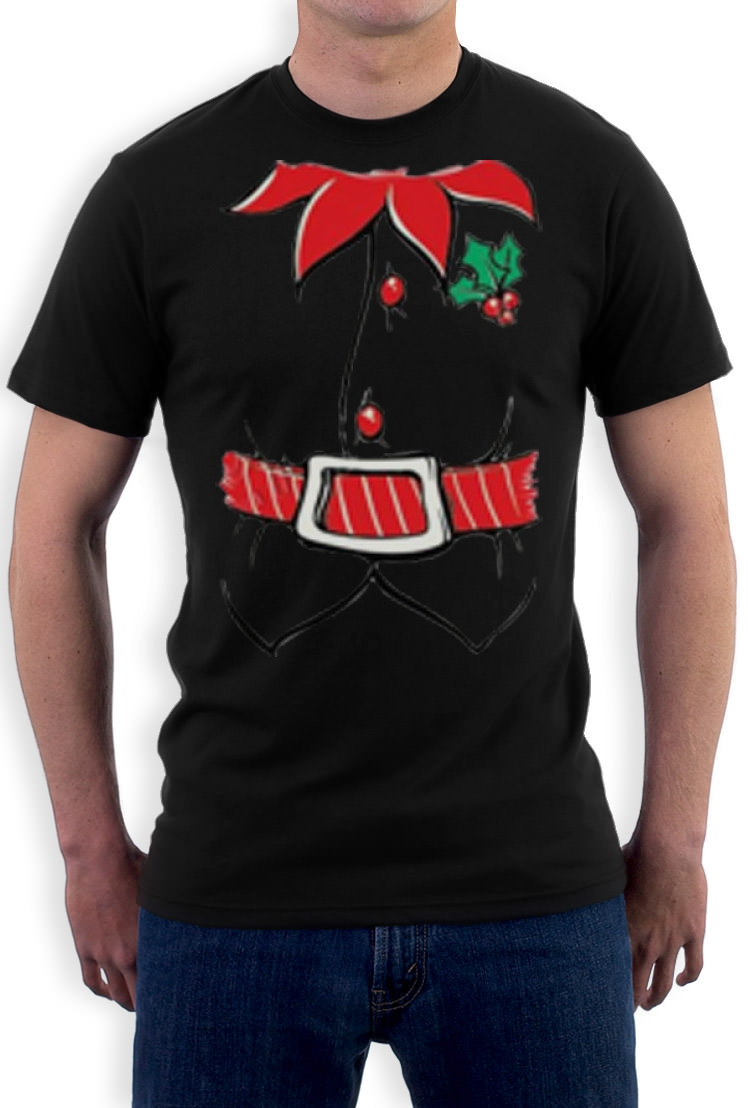 Black xmas t shirt - Elf Tuxedo Costume Christmas T Shirt Xmas Party