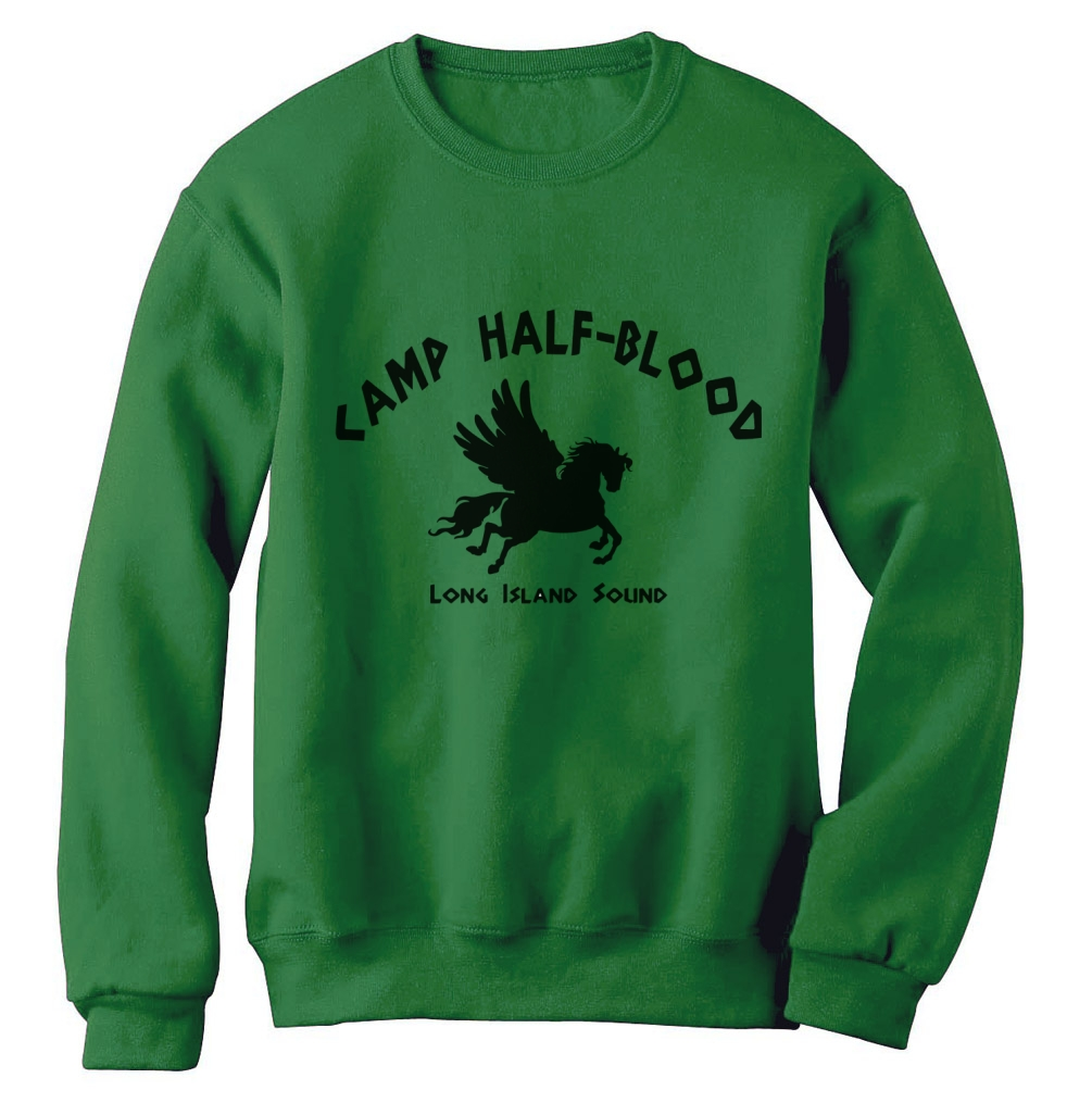 Camp half blood sweatshirt long island pegasus percy jackson new york