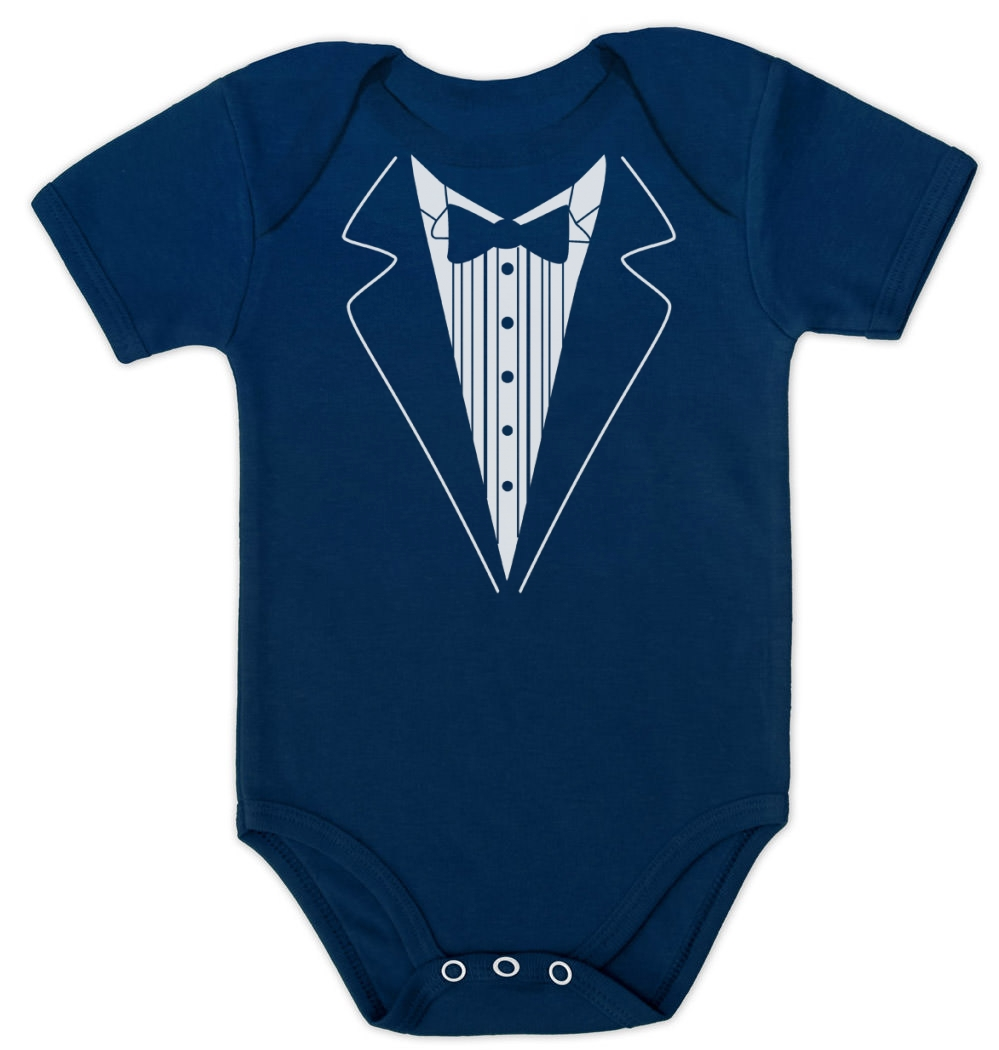 Angelchild Baby Boys Tuxedo Gentleman Onesie Romper Jumpsuit Formal Wedding Suit. by Angelchild. $ - $ $ 14 $ 16 99 Prime. FREE Shipping on eligible orders. Some sizes/colors are Prime eligible. out of 5 stars 4. Product Features Baby Boys Tuxedo Gentleman Onesie Romper Jumpsuit Formal Suit.