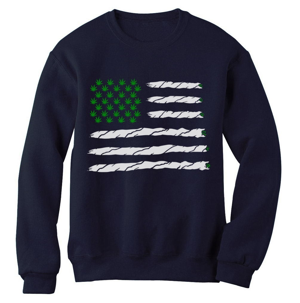 Weed american flag sweatshirt marijuana weed just hit it for Just hip hop t shirt