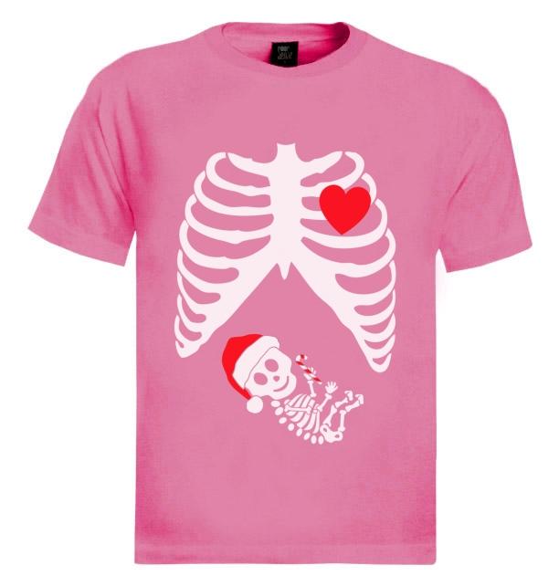 ray baby christmas t shirt gift mom mother girl boy skeleton shower