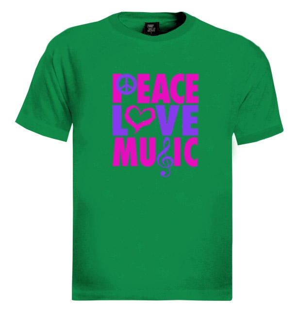 peace love music t shirt sign freedom vw world hippie. Black Bedroom Furniture Sets. Home Design Ideas