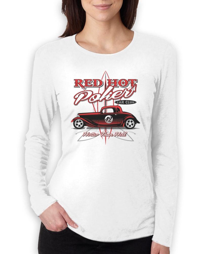 Red Hot Poker Car Club Women Long Sleeve T Shirt Mechanics
