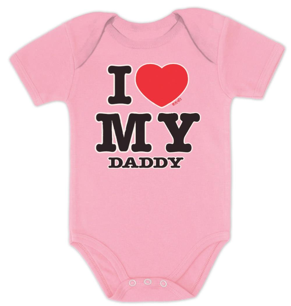 I Love My Daddy Baby Bodysuit Set BOY GIRL Mommy Shower ...