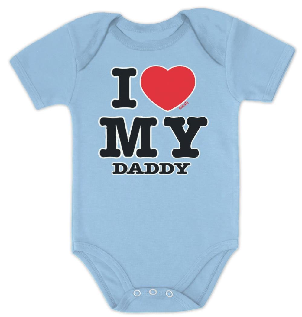 I Love My Daddy Baby Bodysuit Set Boy Girl Mommy Shower