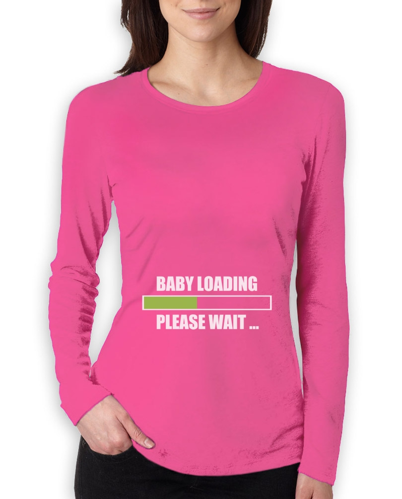 baby loading women long sleeve t shirt pregnant baby shower gift idea