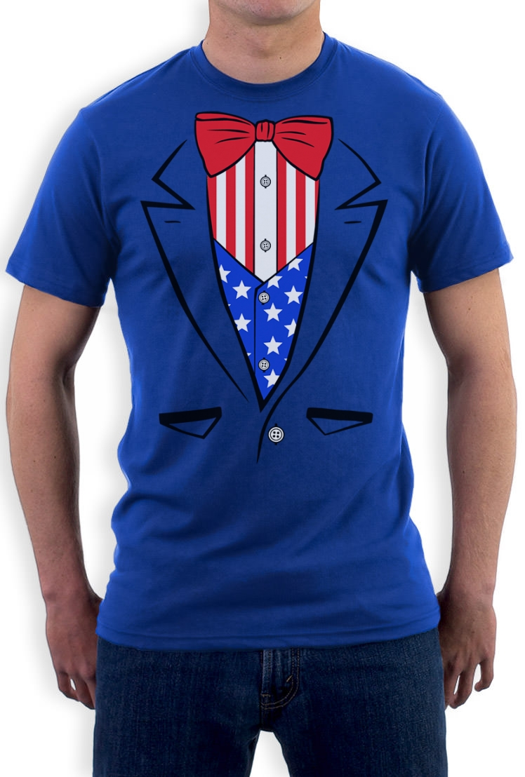 Tuxedo T Shirt Usa Flag America 4th Of July Independence