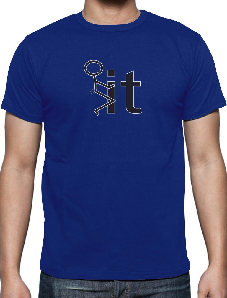 Fk It Funny T-Shirt College Party humor stick man figure ...