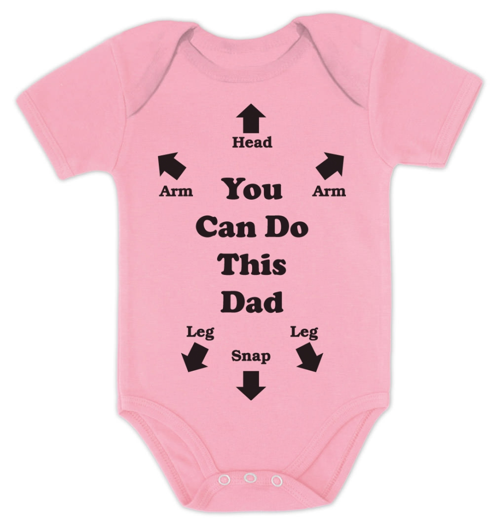 can do this dad baby bodysuit baby shower gift instructions dad to be