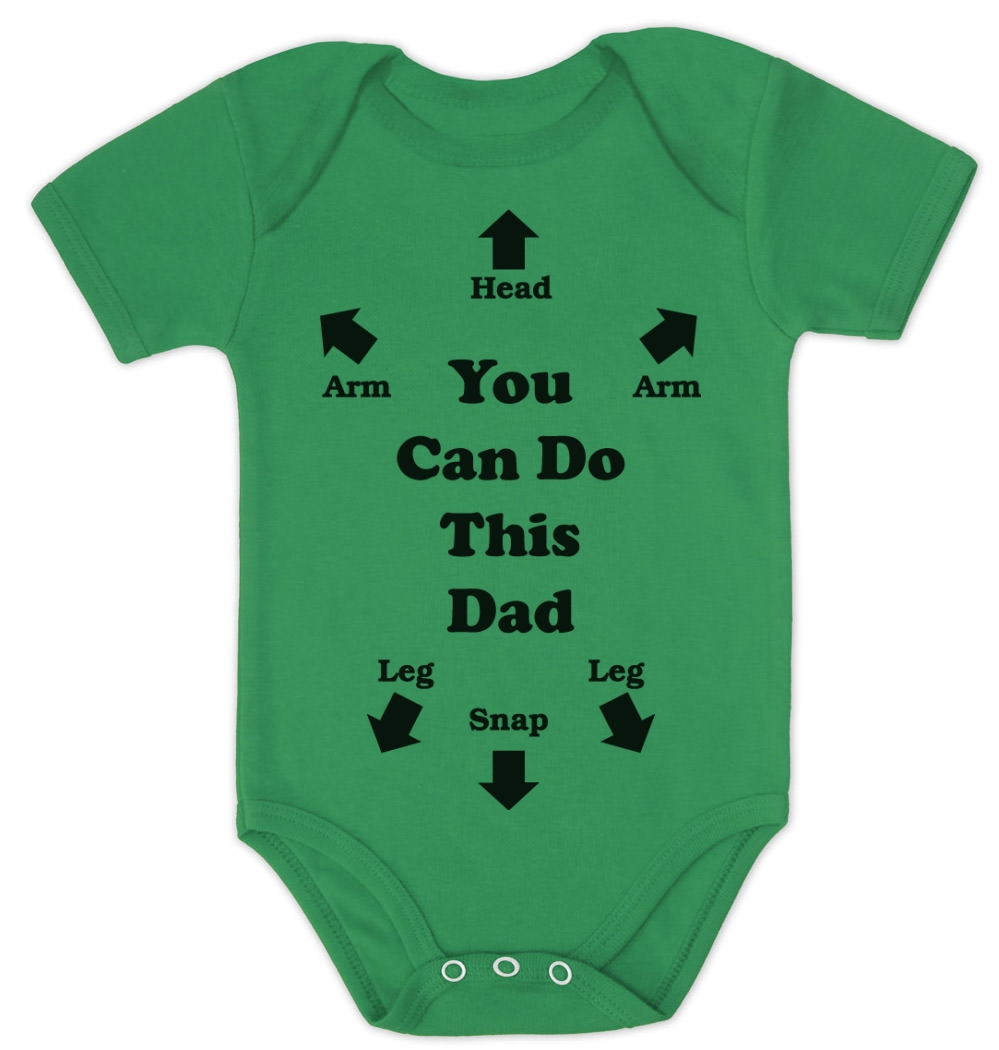 you can do this dad baby onesie baby shower gift instructions dad, Baby shower