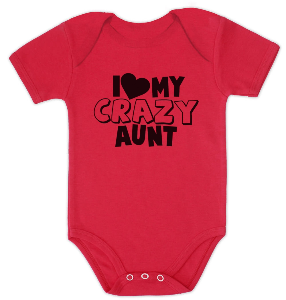 i love my crazy aunt baby onesie baby shower gift idea cute funny, Baby shower