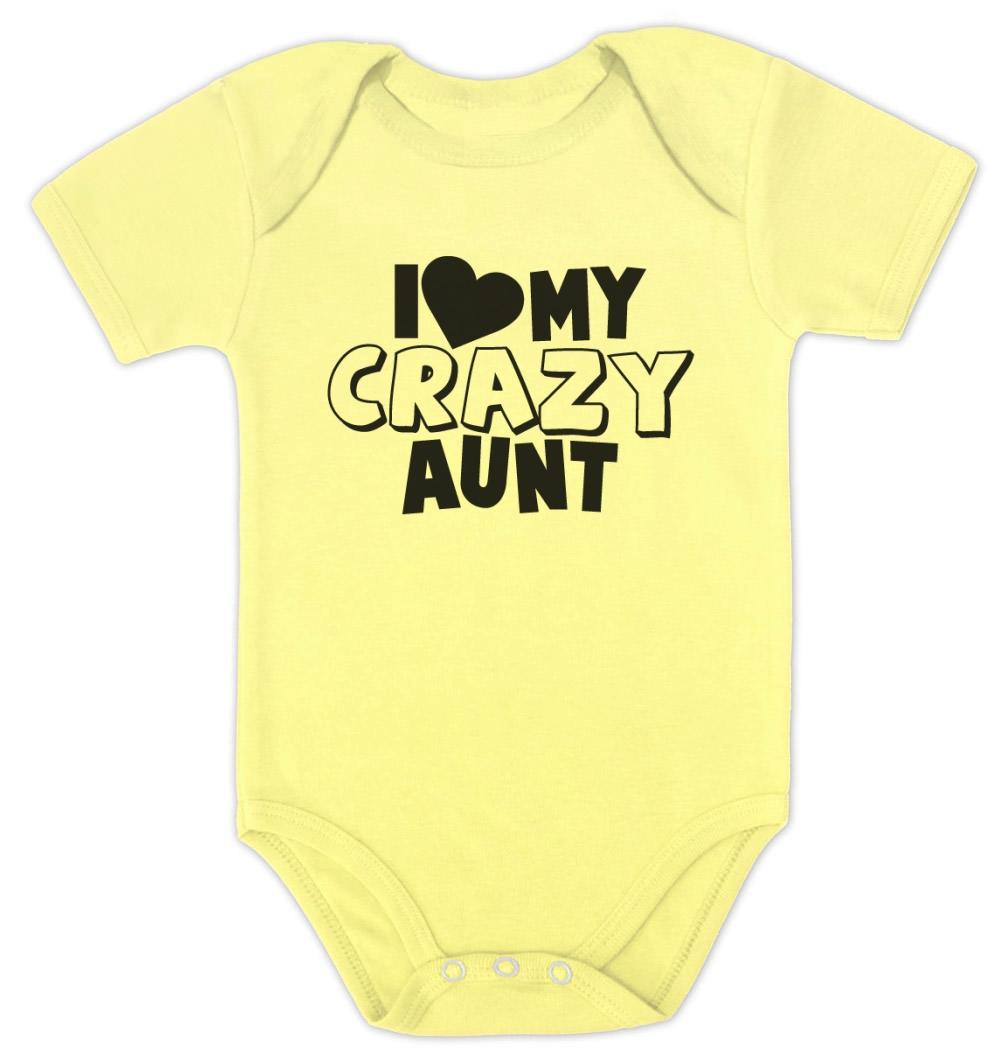 Love my crazy aunt baby bodysuit baby shower gift for girl boy
