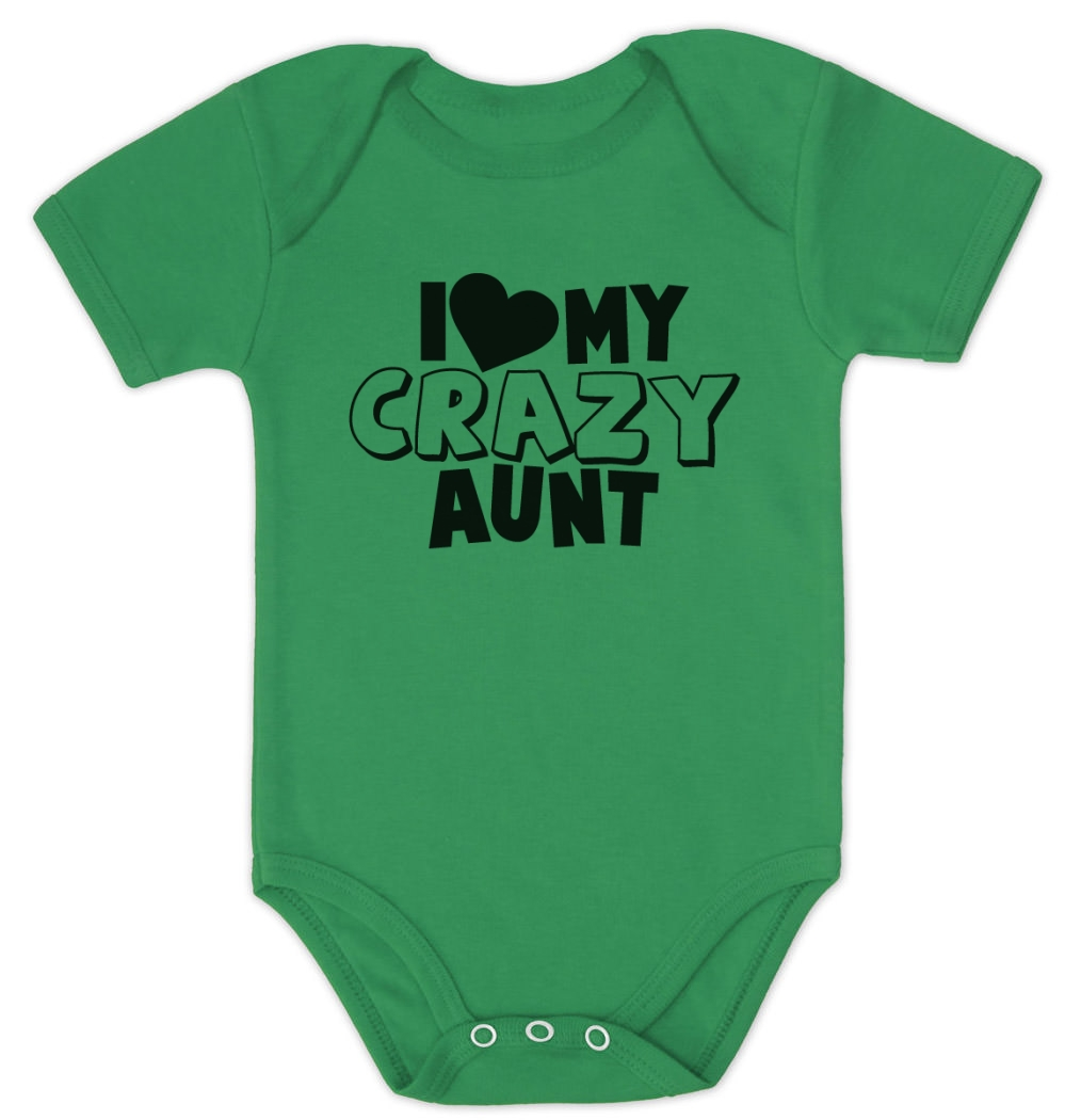 Baby Gift Aunt : I love my crazy aunt baby bodysuit shower gift for