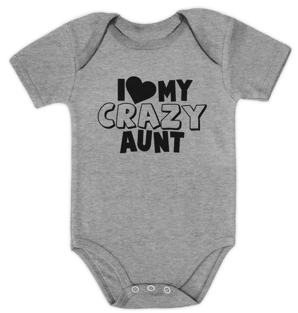 I Love My Crazy Aunt Baby Bodysuit Baby Shower Gift For