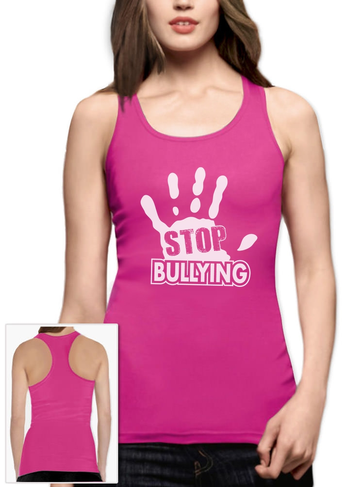 Stop Bullying Pink Shirt Day Anti-Bullying Racerback Tank Top ...