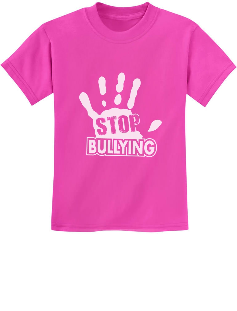 Stop Bullying Pink Shirt Day Anti-Bullying Speak Up Kids T-Shirt ...