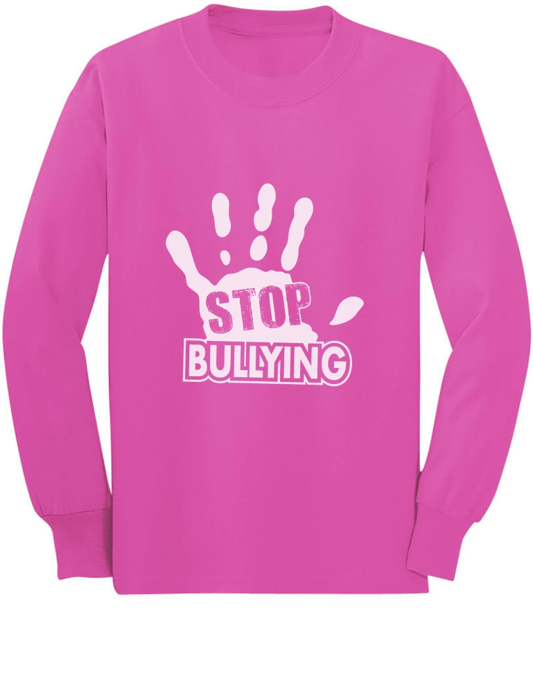 Stop Bullying Pink Shirt Day Anti-Bullying Speak Up Long sleeve ...