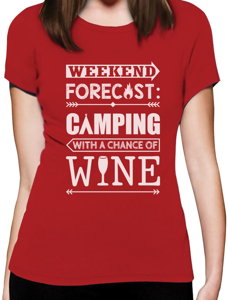 Weekend Forecast Camping With Wine Funny Camper Gift Women