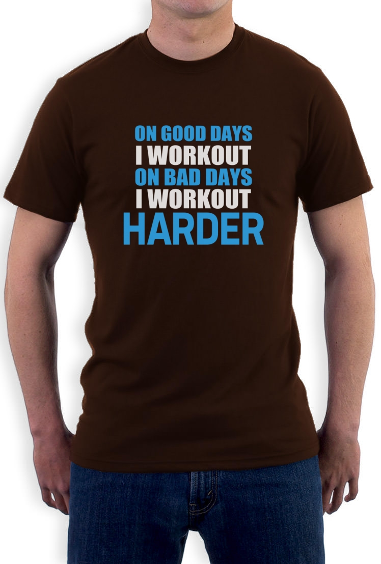 Work out harder t shirt bodybuilding gym exercise best for Best fitness t shirts