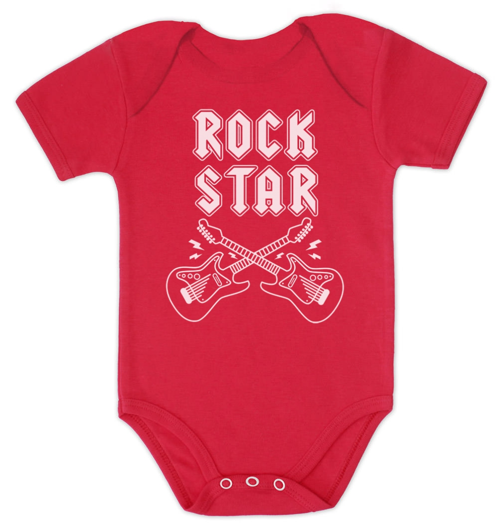 rock star baby bodysuit cool rock n roll black baby shower. Black Bedroom Furniture Sets. Home Design Ideas
