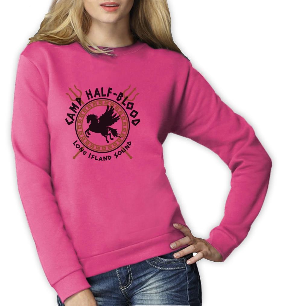 Details about camp half blood gods women sweatshirt pegasus long