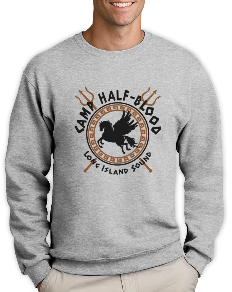 Camp half blood gods sweatshirt pegasus long island percy jackson sci