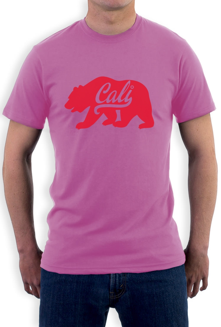 California red bear t shirt diamond cali life los angeles for Los angeles california shirt