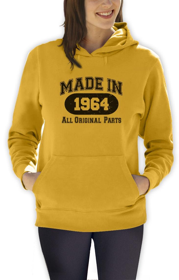 ... -1964-Women-Hoodie-All-Original-Parts-50th-Birthday-Gift-Idea-Mom-Dad