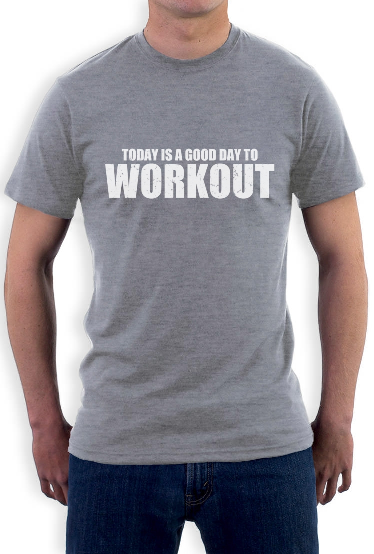 A good day to workout t shirt gym training workout for Design your own workout shirt