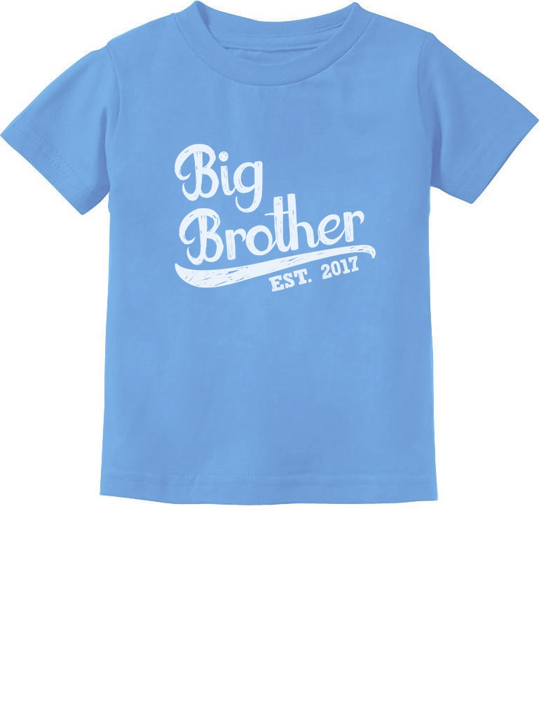 Find and save ideas about Big brother shirts on Pinterest. | See more ideas about Big brother onesie, Big brother 5 and Big brothers. Shirts By Sarah Boy's Big Brother Est. T-Shirt Promoted To T-Shirt - Black / 2T - 2 See more. TSHIRTGUY Big Brother t-Shirt For Kids Big Brother Shirt Big Brother Gifts (Large 14/16yrs, Black).