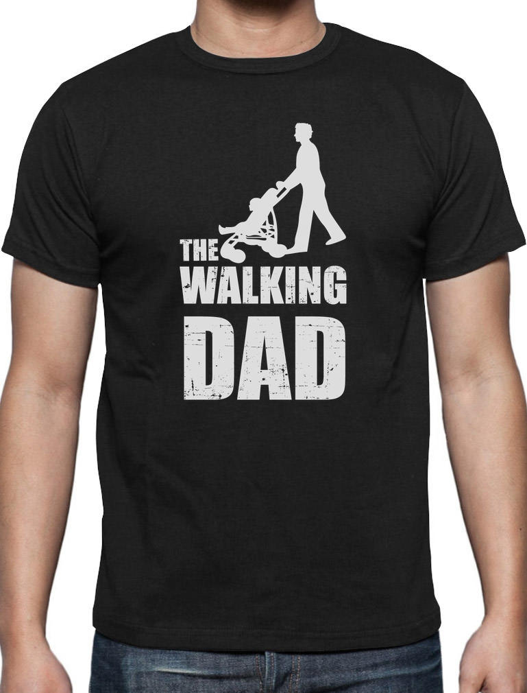Fathers day gift the walking dad t shirt cool funny dads T shirts for dad