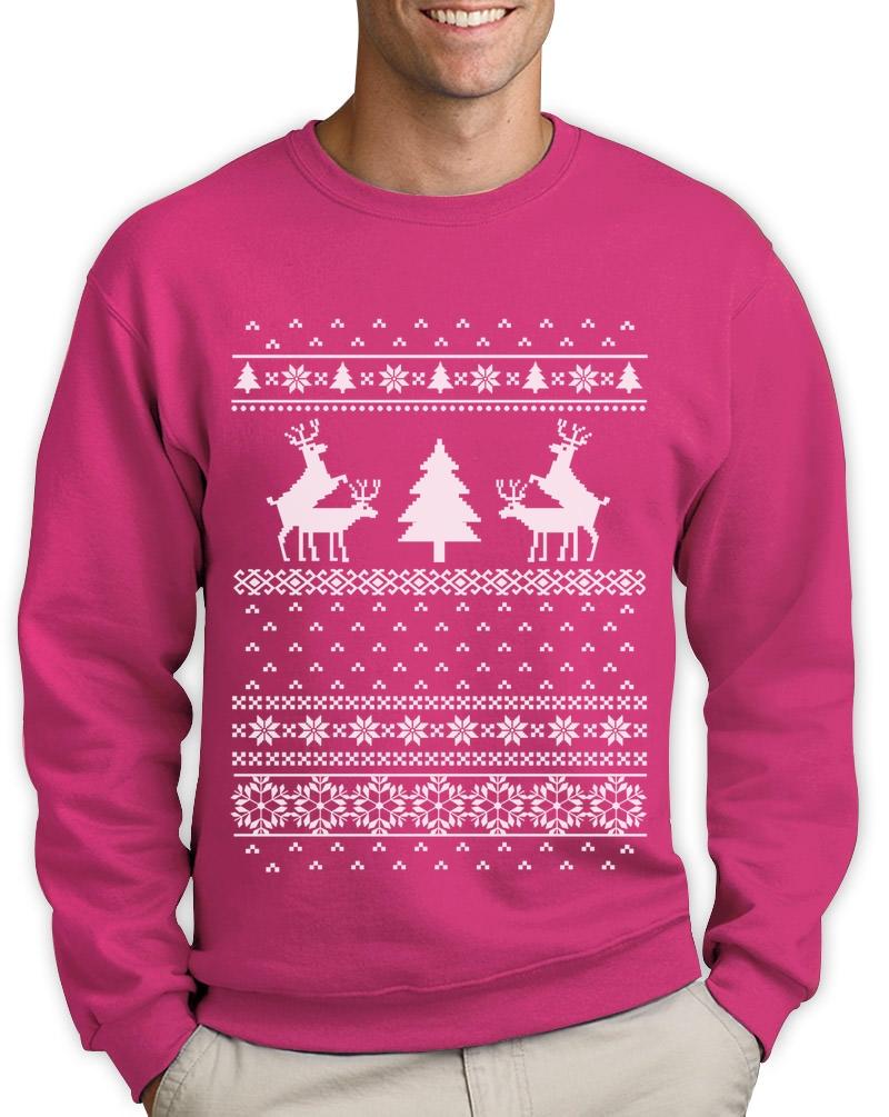 Ugly Christmas Sweater Humping Reindeer Sweatshirt Rude Party ...