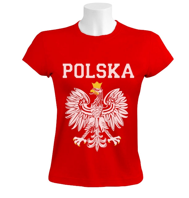 polska est white eagle crest women t shirt poland polish