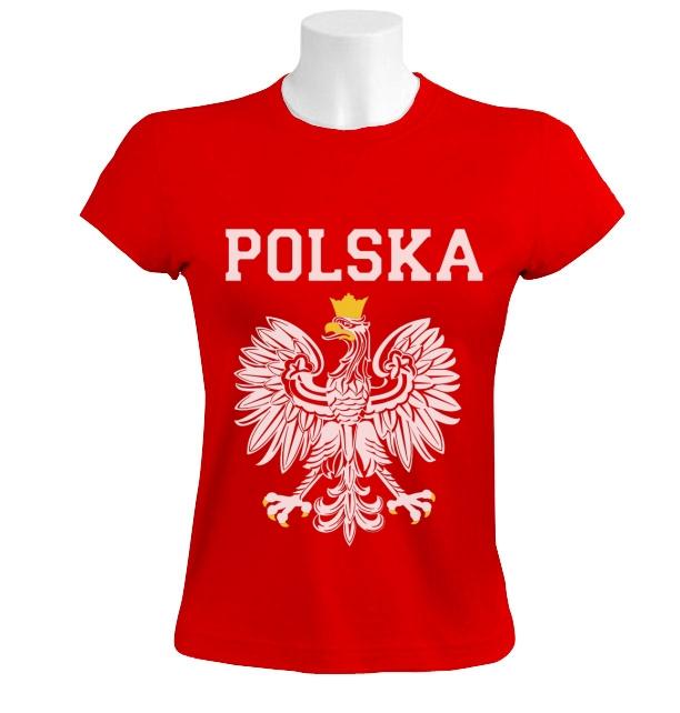 Polska est white eagle crest women t shirt poland polish for Polish t shirts online