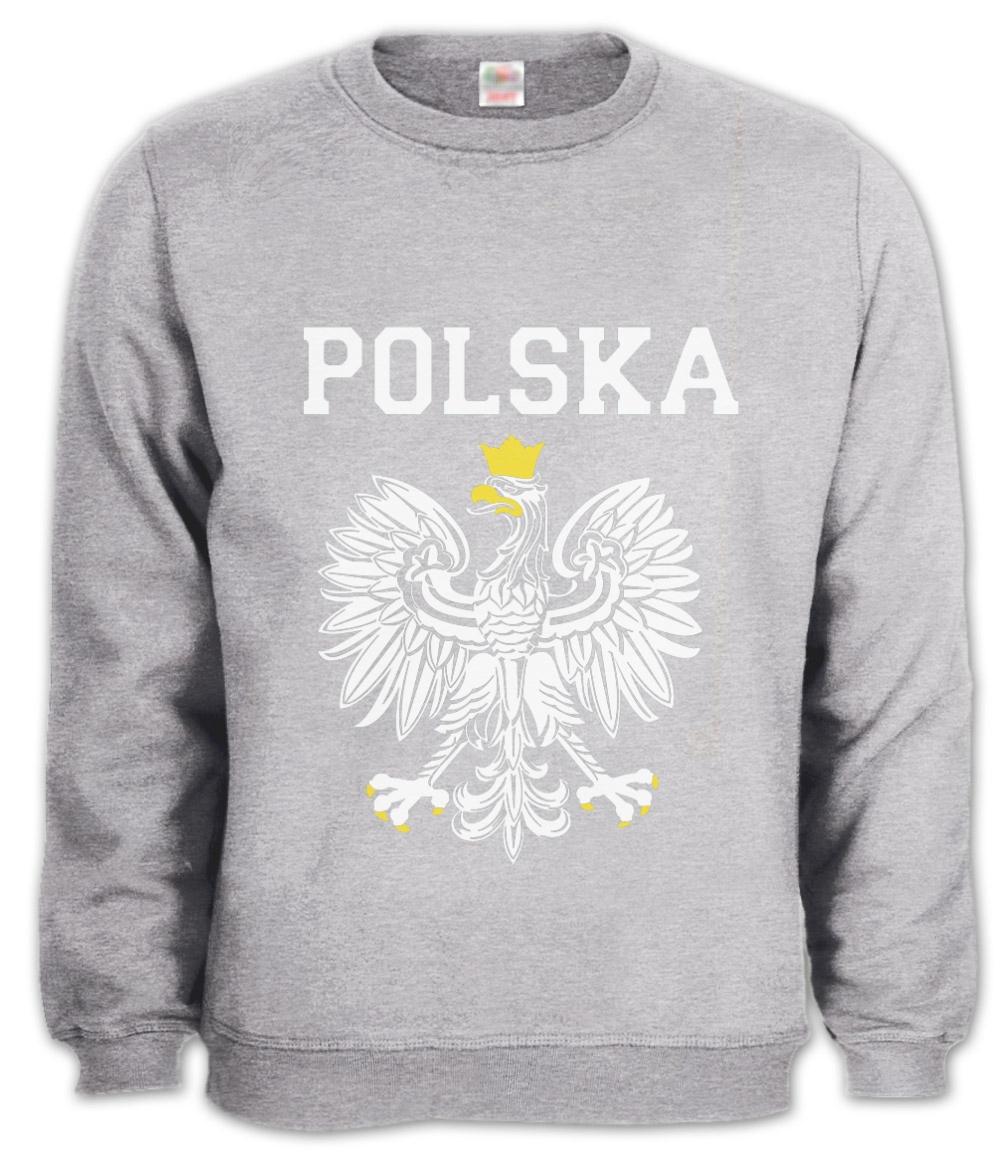 Polska Est White Eagle Crest Sweatshirt Poland Polish Flag Pride