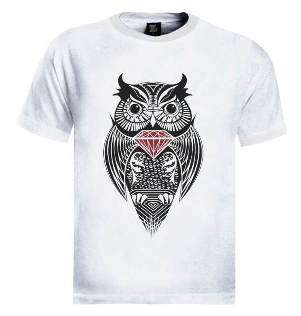diamond owl t shirt wasted dope fresh dis obey hipster. Black Bedroom Furniture Sets. Home Design Ideas