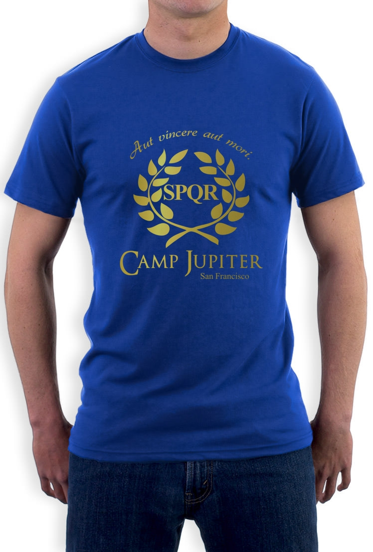 CAMP HALF-BLOOD Branches T-Shirt CAMP JUPITER SPQR Purple ... Camp Jupiter Shirt Percy Jackson