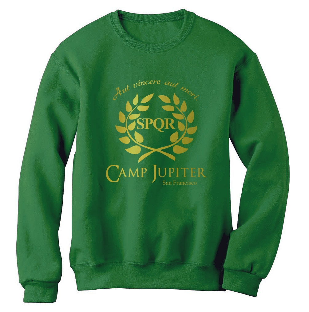 Camp half blood branches sweatshirt camp jupiter spqr sci fi jackson