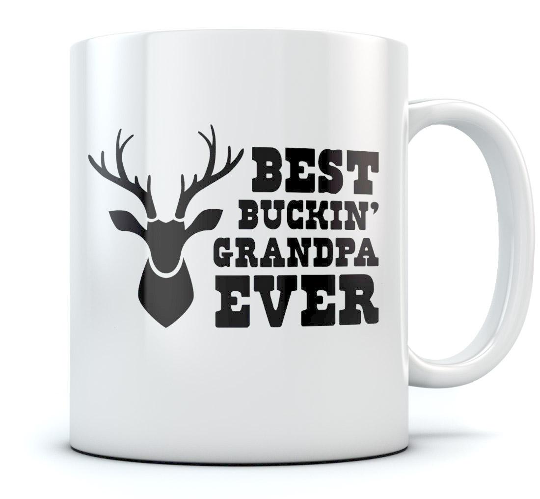 Best Buckin 39 Grandpa Ever Coffee Mug Funny Hunting Gift