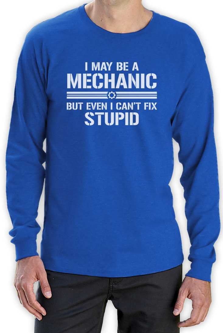 Mechanic fix everything long sleeve t shirt diesel funny for Mechanic shirts with logo