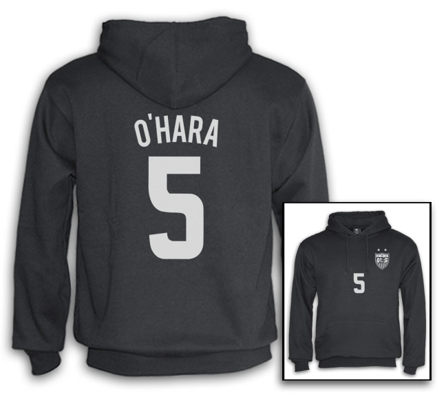 Kelley O'hara Hoodie #5 USA Soccer National Team Canada 2015 Women's World Cup